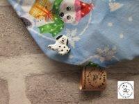 the posh dog clothing company bandanna christmas trad polar green 2
