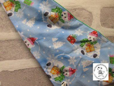 the posh dog clothing company bandanna christmas trad polar green 3