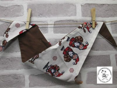 the posh dog clothing company bandanna christmas trad santa brown 1