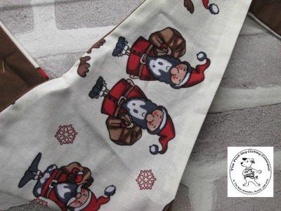 the posh dog clothing company bandanna christmas trad santa brown 2