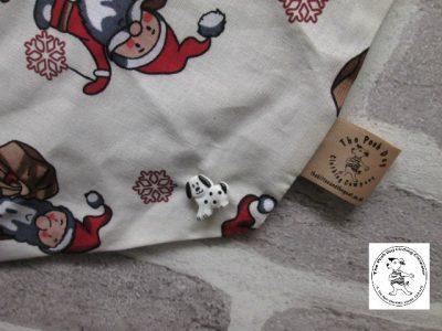 the posh dog clothing company bandanna christmas trad santa brown 3