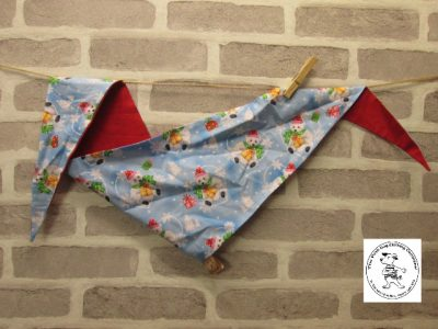 the posh dog clothing company bandannas christmas polar cub red 01