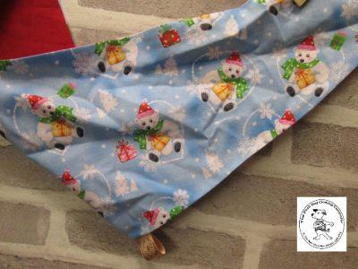 the posh dog clothing company bandannas christmas polar cub red 02