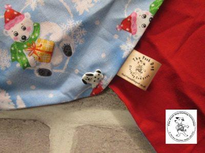 the posh dog clothing company bandannas christmas polar cub red 03
