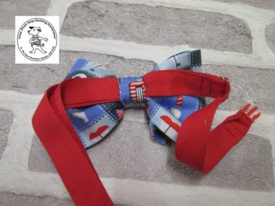 the posh dog clothing company bow tie blue boats red 02