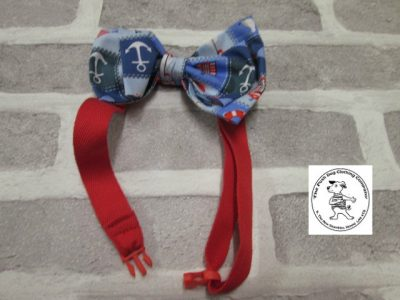 the posh dog clothing company bow tie blue boats red 03