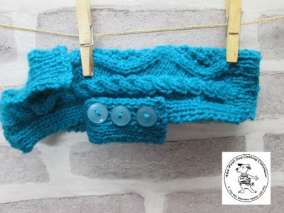 the posh dog clothing company chunky cable jumper sea green 2