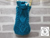 the posh dog clothing company chunky cable jumper sea green 4