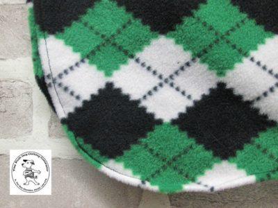 the posh dog clothing company fleece coat green argyle 3