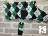 the posh dog clothing company fleece coat green argyle a2