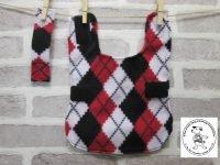 the posh dog clothing company fleece coat red argyle 5