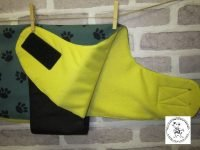 the posh dog clothing company water proof yellow feece coat 2