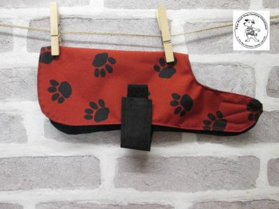 the posh dog clothing company waterproof red blackwatch 01