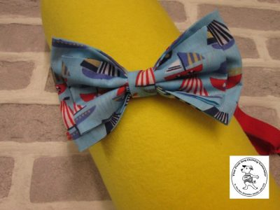 The Posh dog clothing company bow tie blue boats red 01