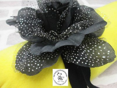 The Posh dog clothing company corsage black rose 01