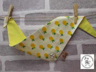 the posh dog clothing company bandannas pineapple yellow 01