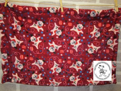 the posh dog clothing company blanket cuddle flease small red dog ball 1