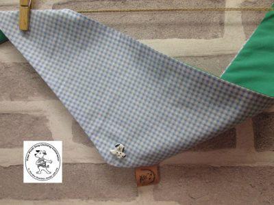 the posh dog clothing company blue check green 01