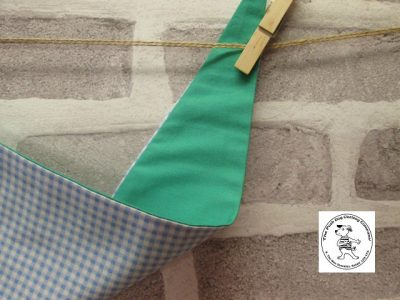 the posh dog clothing company blue check green 03