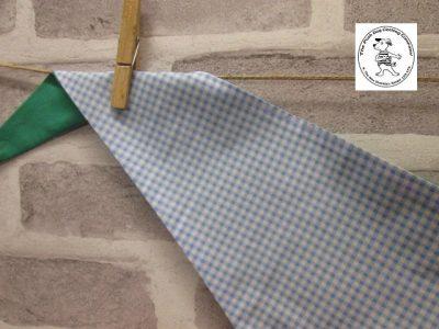 the posh dog clothing company blue check green 04