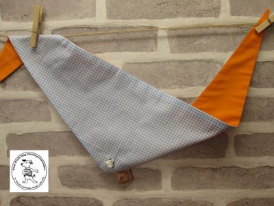 the posh dog clothing company blue check orange 01