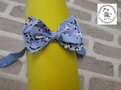 the posh dog clothing company bow tie blue panda blue 01