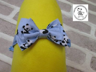 the posh dog clothing company bow tie blue panda blue 05