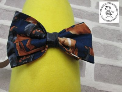 the posh dog clothing company bow tie brown dog brown 01