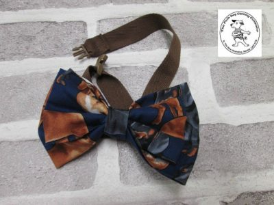 the posh dog clothing company bow tie brown dog brown 04