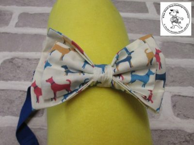 the posh dog clothing company bow tie cream dogs blue 01