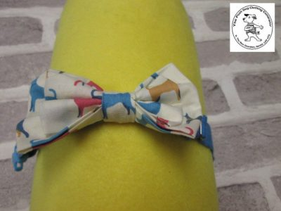 the posh dog clothing company bow tie cream dogs blue 06