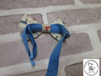 the posh dog clothing company bow tie cream dogs blue 08
