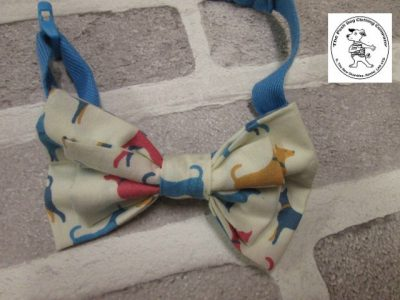 the posh dog clothing company bow tie cream dogs blue 09
