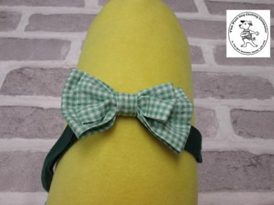 the posh dog clothing company bow tie green gingham green 05
