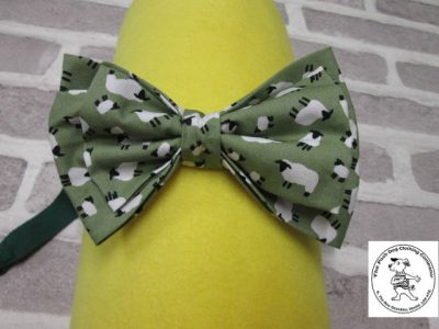 the posh dog clothing company bow tie green sheep green 01