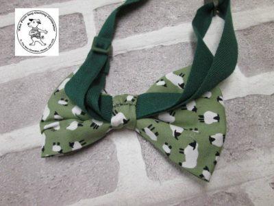 the posh dog clothing company bow tie green sheep green 03