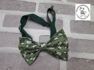 the posh dog clothing company bow tie green sheep green 04