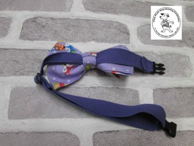 the posh dog clothing company bow tie lilac foxs purple 03