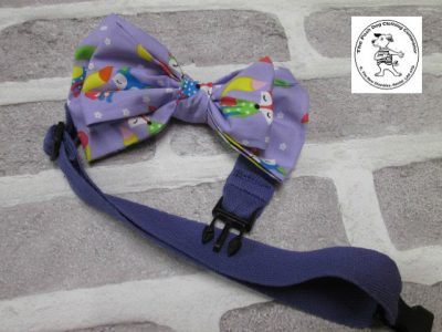 the posh dog clothing company bow tie lilac foxs purple 04