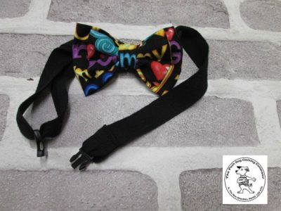 the posh dog clothing company bow tie love dog red 08