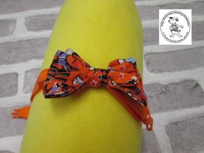the posh dog clothing company bow tie orange super hero orange 01