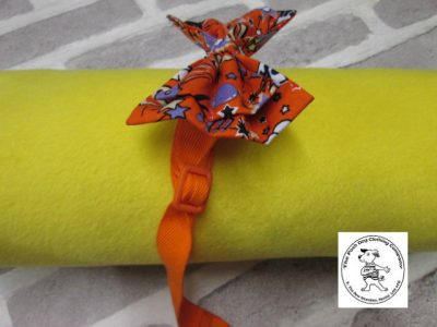 the posh dog clothing company bow tie orange super hero orange 06