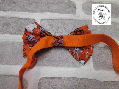 the posh dog clothing company bow tie orange super hero orange 07