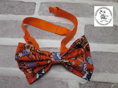 the posh dog clothing company bow tie orange super hero orange 08