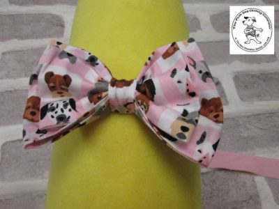 the posh dog clothing company bow tie pink dogs pink 01