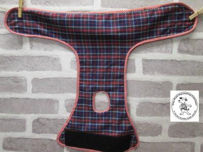 the posh dog clothing company pants blue tartan green 05