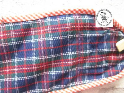 the posh dog clothing company pants blue tartan green 06