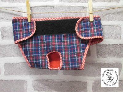 the posh dog clothing company pants blue tartan red 02