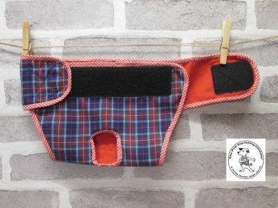 the posh dog clothing company pants blue tartan red 03