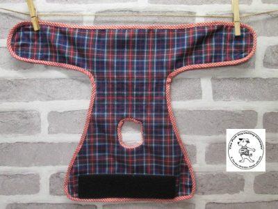 the posh dog clothing company pants blue tartan red 05